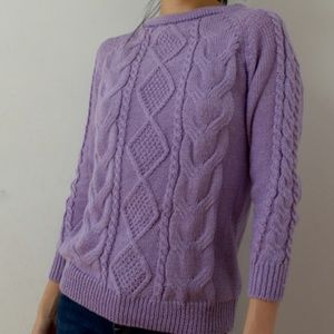 Like-New Knit Purple Sweater